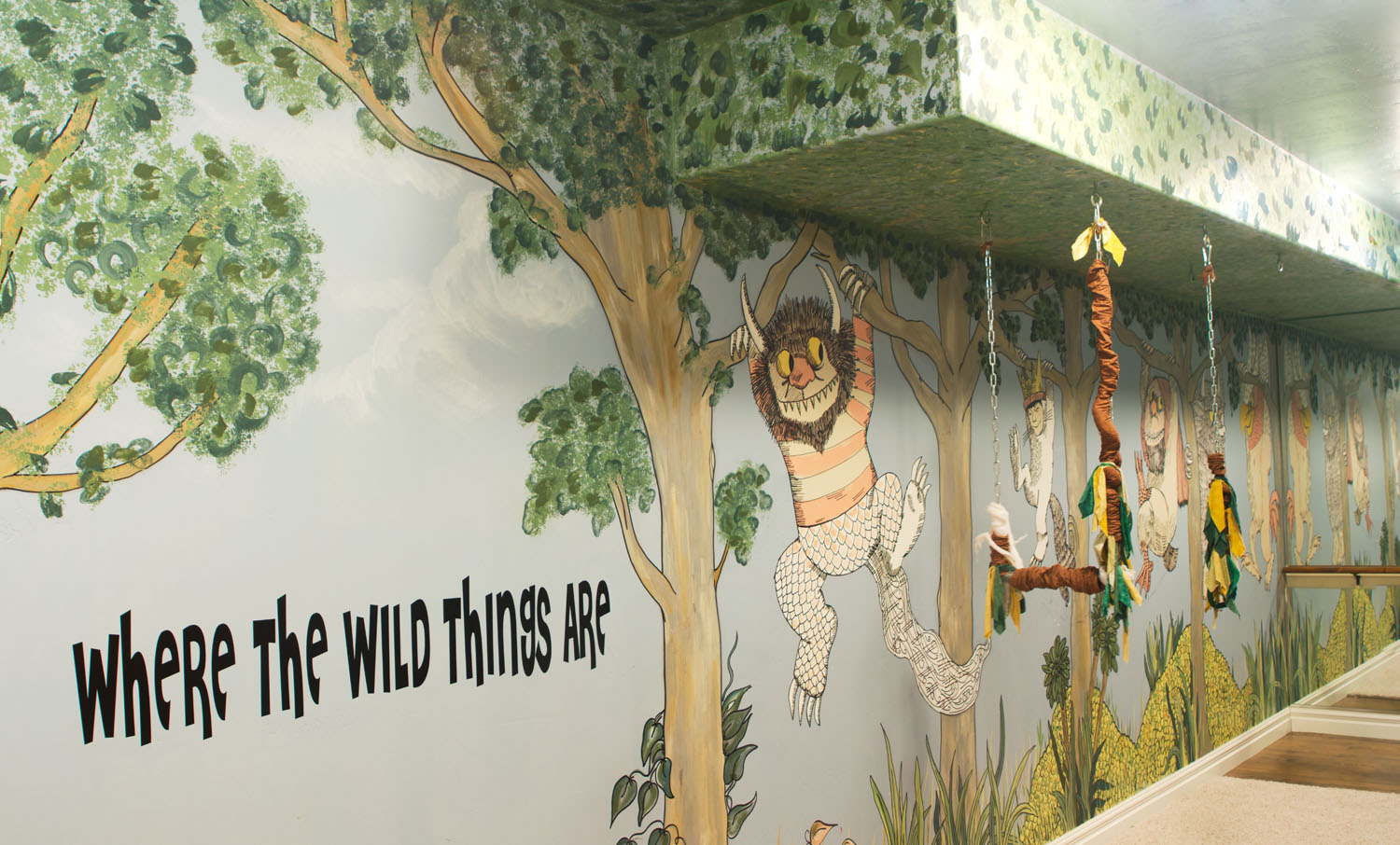 pics photos wall murals where the wild things are wall jpg. Black Bedroom Furniture Sets. Home Design Ideas