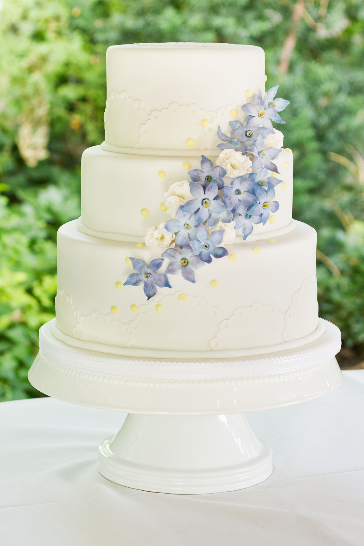 delphinium wedding cake cassidy tuttle photography. Black Bedroom Furniture Sets. Home Design Ideas